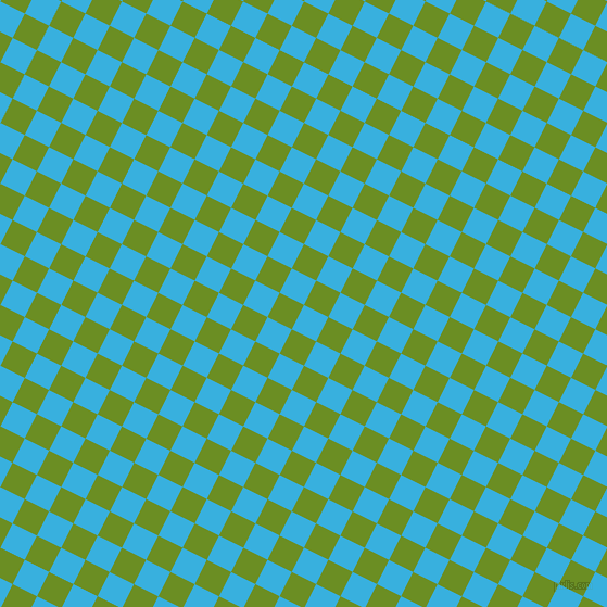 63/153 degree angle diagonal checkered chequered squares checker pattern checkers background, 25 pixel squares size, , Summer Sky and Olive Drab checkers chequered checkered squares seamless tileable