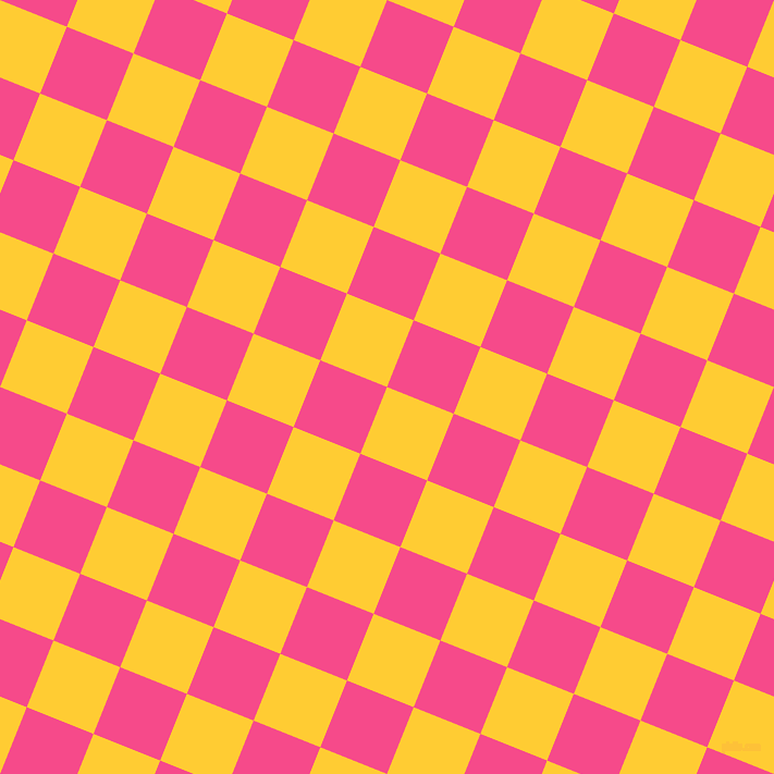 68/158 degree angle diagonal checkered chequered squares checker pattern checkers background, 66 pixel square size, , Sunglow and French Rose checkers chequered checkered squares seamless tileable