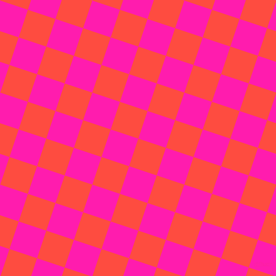 Sunset Orange And Spicy Pink Checkers Chequered Checkered