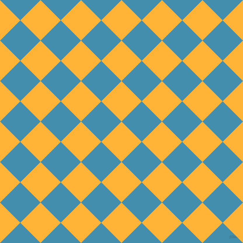 45/135 degree angle diagonal checkered chequered squares checker pattern checkers background, 98 pixel squares size, , Supernova and Boston Blue checkers chequered checkered squares seamless tileable