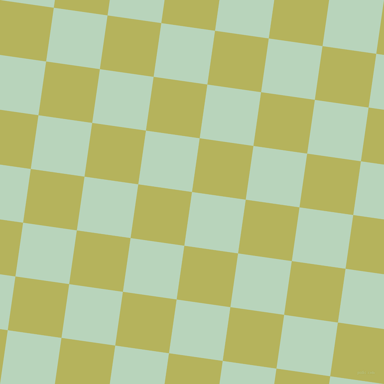 82/172 degree angle diagonal checkered chequered squares checker pattern checkers background, 109 pixel square size, , Surf and Olive Green checkers chequered checkered squares seamless tileable