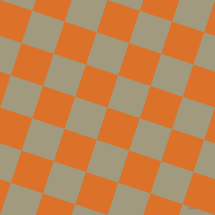 72/162 degree angle diagonal checkered chequered squares checker pattern checkers background, 70 pixel squares size, , Tahiti Gold and Grey Olive checkers chequered checkered squares seamless tileable