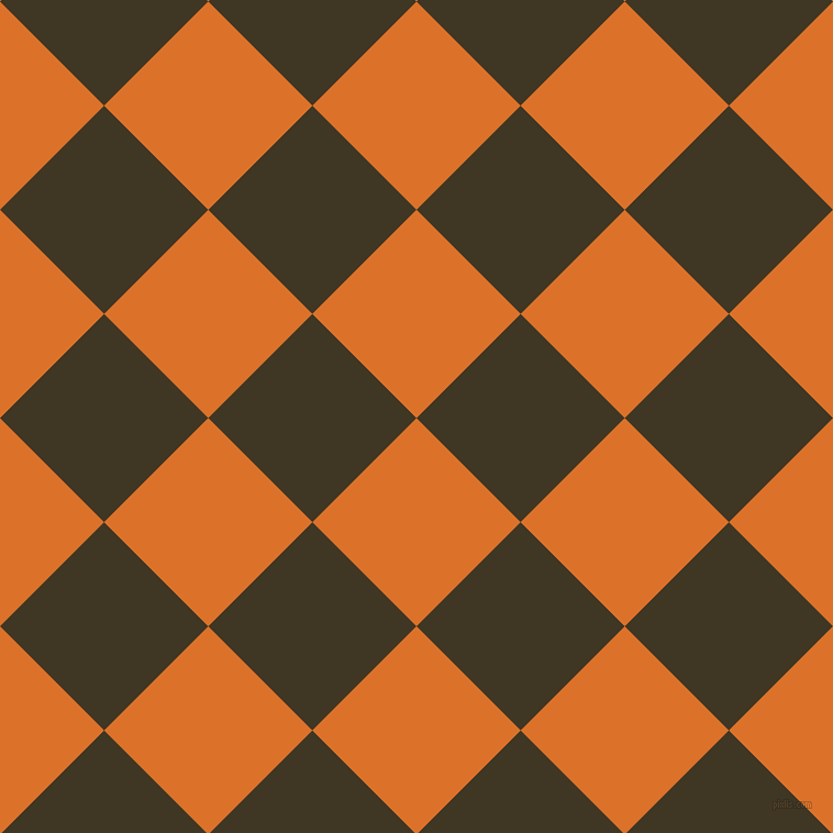 45/135 degree angle diagonal checkered chequered squares checker pattern checkers background, 134 pixel square size, , Tahiti Gold and Mikado checkers chequered checkered squares seamless tileable