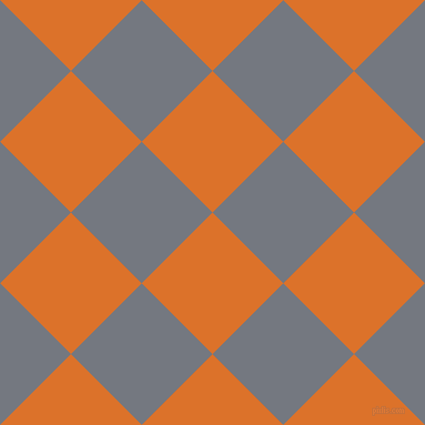 45/135 degree angle diagonal checkered chequered squares checker pattern checkers background, 110 pixel square size, , Tahiti Gold and Storm Grey checkers chequered checkered squares seamless tileable