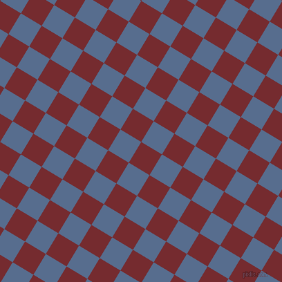 59/149 degree angle diagonal checkered chequered squares checker pattern checkers background, 35 pixel squares size, , Tamarillo and Kashmir Blue checkers chequered checkered squares seamless tileable