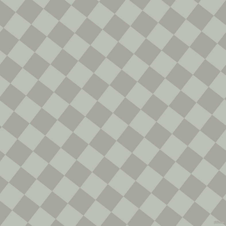 52/142 degree angle diagonal checkered chequered squares checker pattern checkers background, 69 pixel squares size, , Tasman and Foggy Grey checkers chequered checkered squares seamless tileable