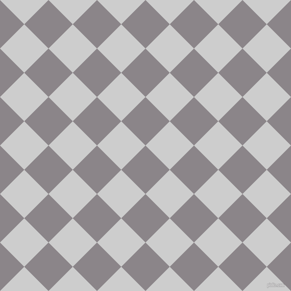 45/135 degree angle diagonal checkered chequered squares checker pattern checkers background, 70 pixel square size, , Taupe Grey and Very Light Grey checkers chequered checkered squares seamless tileable