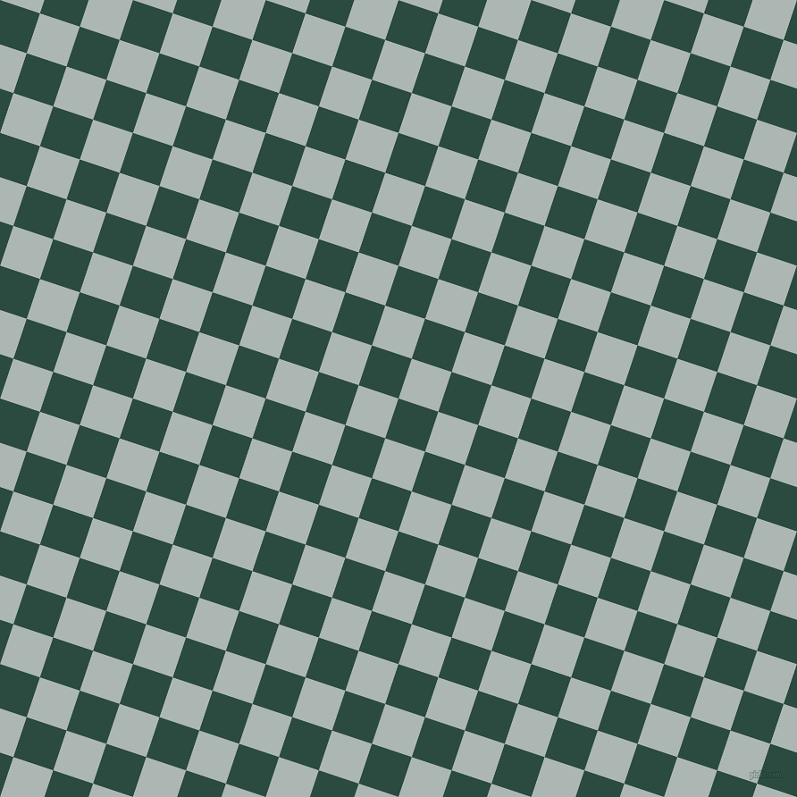 72/162 degree angle diagonal checkered chequered squares checker pattern checkers background, 47 pixel square size, , Te Papa Green and Periglacial Blue checkers chequered checkered squares seamless tileable