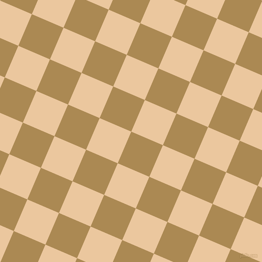 67/157 degree angle diagonal checkered chequered squares checker pattern checkers background, 70 pixel squares size, , Teak and New Tan checkers chequered checkered squares seamless tileable
