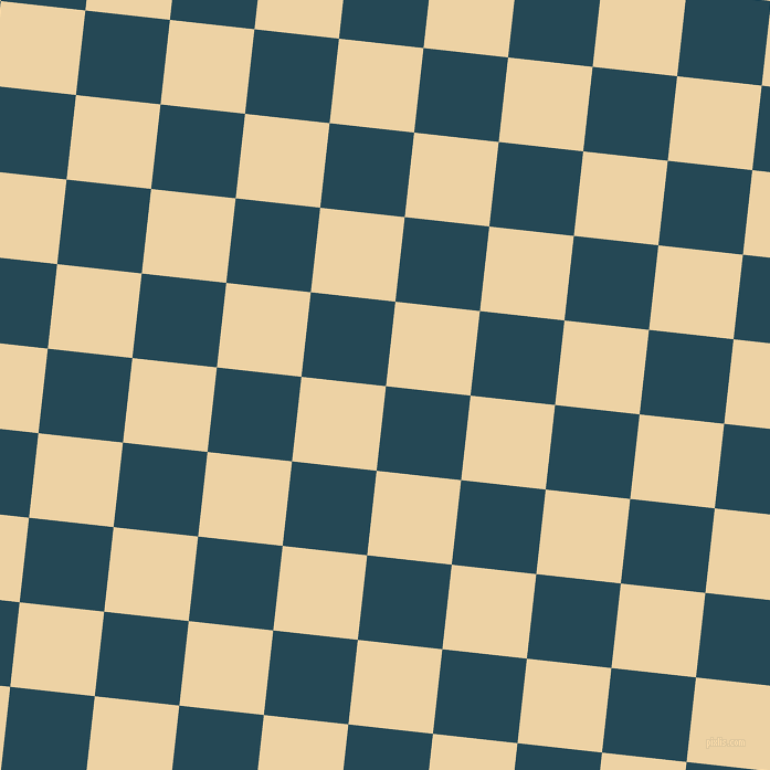 84/174 degree angle diagonal checkered chequered squares checker pattern checkers background, 77 pixel square size, , Teal Blue and Dairy Cream checkers chequered checkered squares seamless tileable