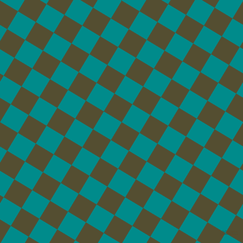 59/149 degree angle diagonal checkered chequered squares checker pattern checkers background, 43 pixel squares size, , Thatch Green and Dark Cyan checkers chequered checkered squares seamless tileable