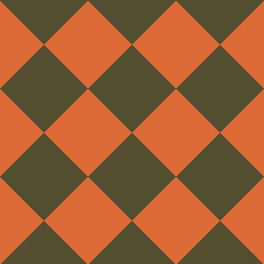45/135 degree angle diagonal checkered chequered squares checker pattern checkers background, 121 pixel squares size, , Thatch Green and Sorbus checkers chequered checkered squares seamless tileable