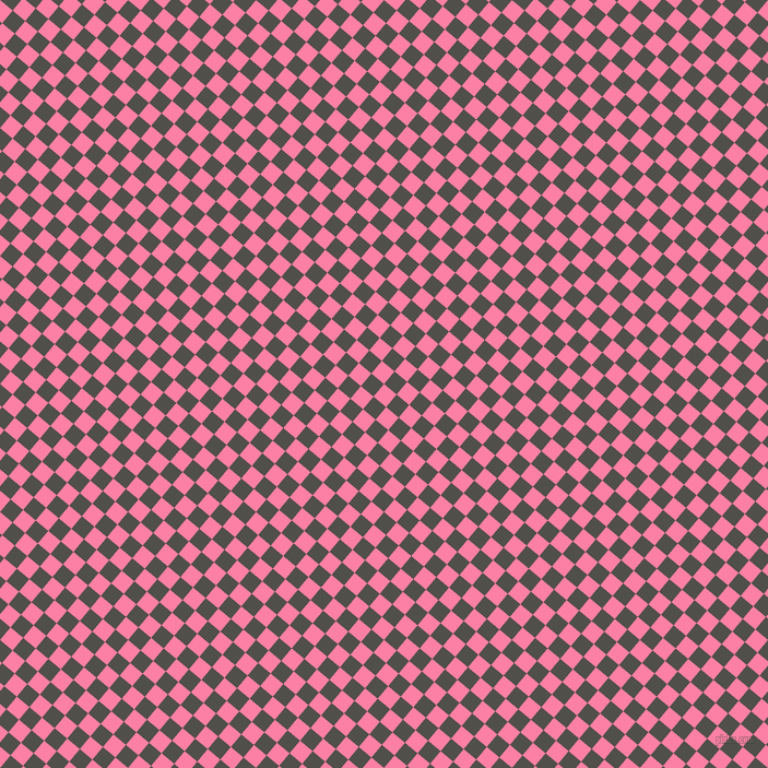 50/140 degree angle diagonal checkered chequered squares checker pattern checkers background, 15 pixel square size, , Tickle Me Pink and Dune checkers chequered checkered squares seamless tileable