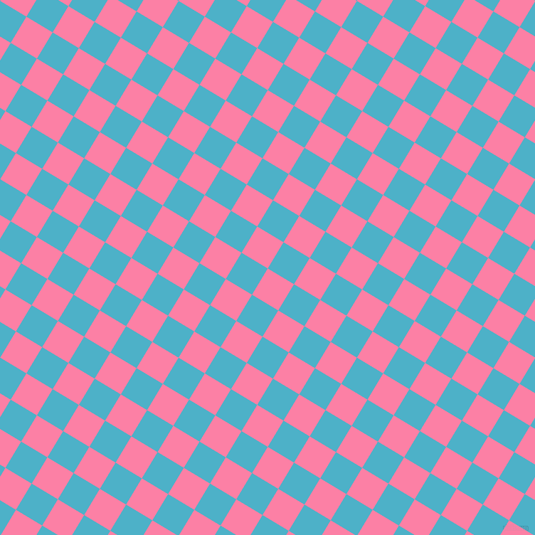 59/149 degree angle diagonal checkered chequered squares checker pattern checkers background, 43 pixel square size, , Tickle Me Pink and Viking checkers chequered checkered squares seamless tileable