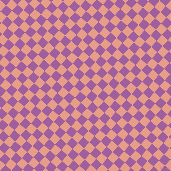 49/139 degree angle diagonal checkered chequered squares checker pattern checkers background, 26 pixel squares size, , Tonys Pink and Violet Blue checkers chequered checkered squares seamless tileable