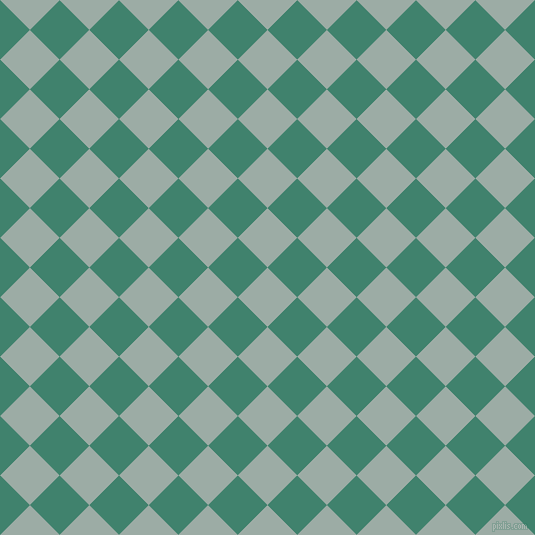 45/135 degree angle diagonal checkered chequered squares checker pattern checkers background, 42 pixel square size, , Tower Grey and Viridian checkers chequered checkered squares seamless tileable