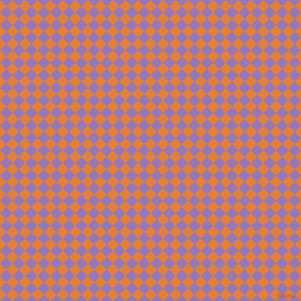 45/135 degree angle diagonal checkered chequered squares checker pattern checkers background, 18 pixel square size, , Tree Poppy and Purple Mountain