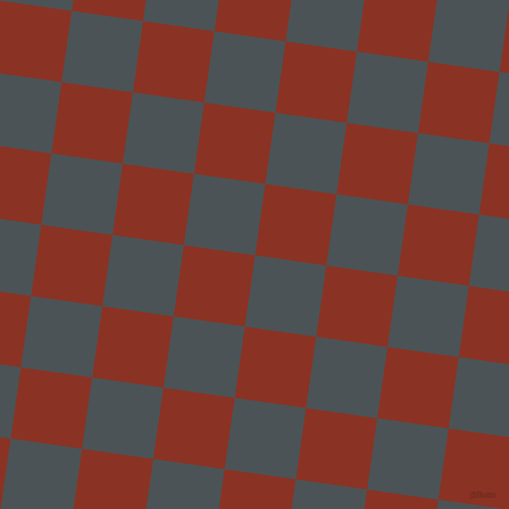 82/172 degree angle diagonal checkered chequered squares checker pattern checkers background, 102 pixel square size, , Trout and Burnt Umber checkers chequered checkered squares seamless tileable