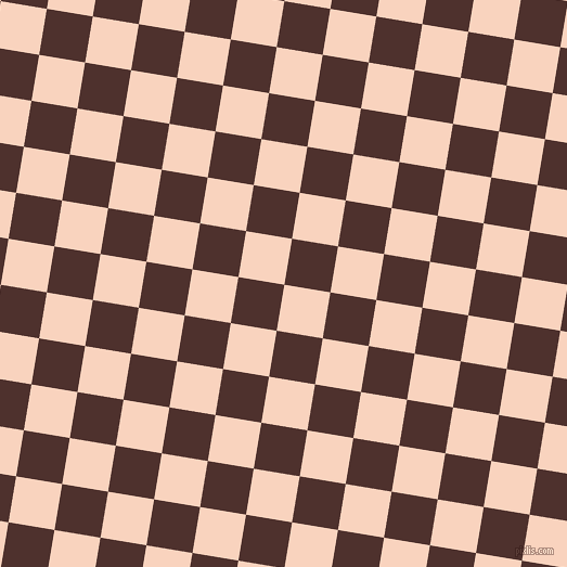 81/171 degree angle diagonal checkered chequered squares checker pattern checkers background, 43 pixel square size, Tuft Bush and Espresso checkers chequered checkered squares seamless tileable