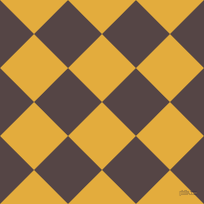 45/135 degree angle diagonal checkered chequered squares checker pattern checkers background, 98 pixel square size, , Tulip Tree and Woody Brown checkers chequered checkered squares seamless tileable