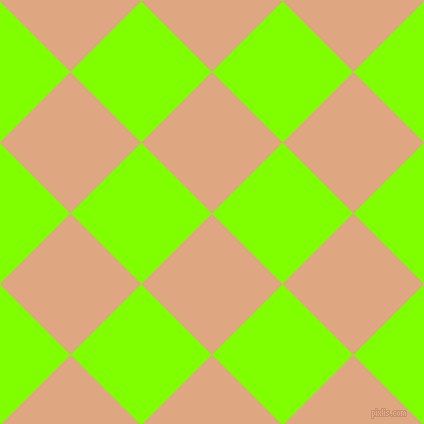 45/135 degree angle diagonal checkered chequered squares checker pattern checkers background, 100 pixel square size, , Tumbleweed and Chartreuse checkers chequered checkered squares seamless tileable
