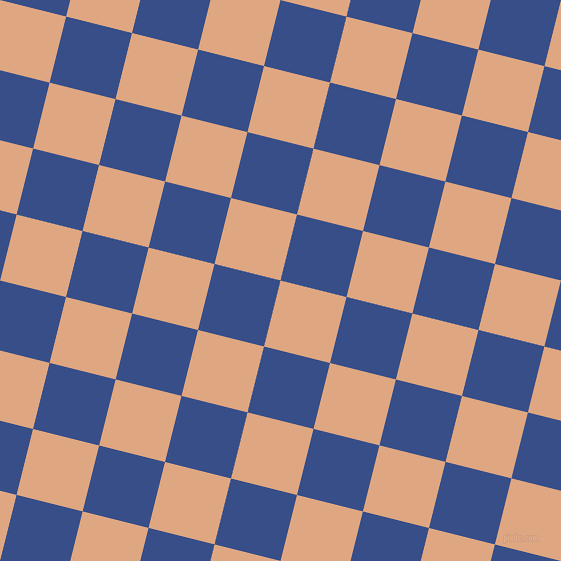 76/166 degree angle diagonal checkered chequered squares checker pattern checkers background, 68 pixel squares size, , Tumbleweed and Tory Blue checkers chequered checkered squares seamless tileable