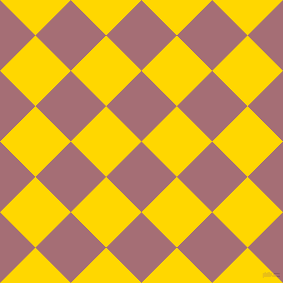 45/135 degree angle diagonal checkered chequered squares checker pattern checkers background, 103 pixel squares size, , Turkish Rose and Gold checkers chequered checkered squares seamless tileable