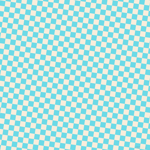 82/172 degree angle diagonal checkered chequered squares checker pattern checkers background, 18 pixel square size, , Turquoise Blue and Island Spice checkers chequered checkered squares seamless tileable
