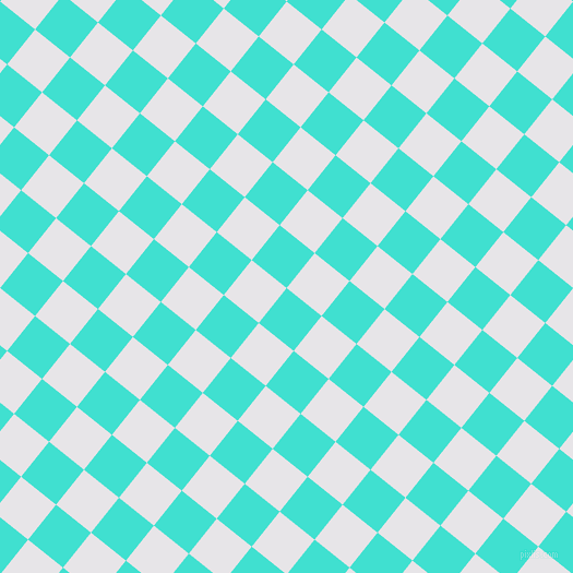 51/141 degree angle diagonal checkered chequered squares checker pattern checkers background, 41 pixel squares size, , Turquoise and White Lilac checkers chequered checkered squares seamless tileable