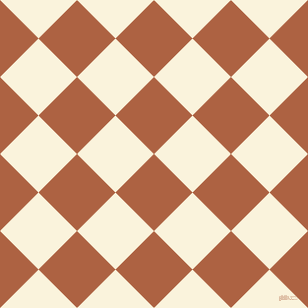 45/135 degree angle diagonal checkered chequered squares checker pattern checkers background, 108 pixel squares size, , Tuscany and Off Yellow checkers chequered checkered squares seamless tileable