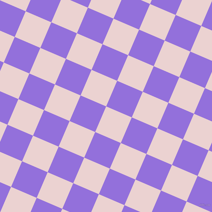 67/157 degree angle diagonal checkered chequered squares checker pattern checkers background, 90 pixel squares size, Vanilla Ice and Medium Purple checkers chequered checkered squares seamless tileable