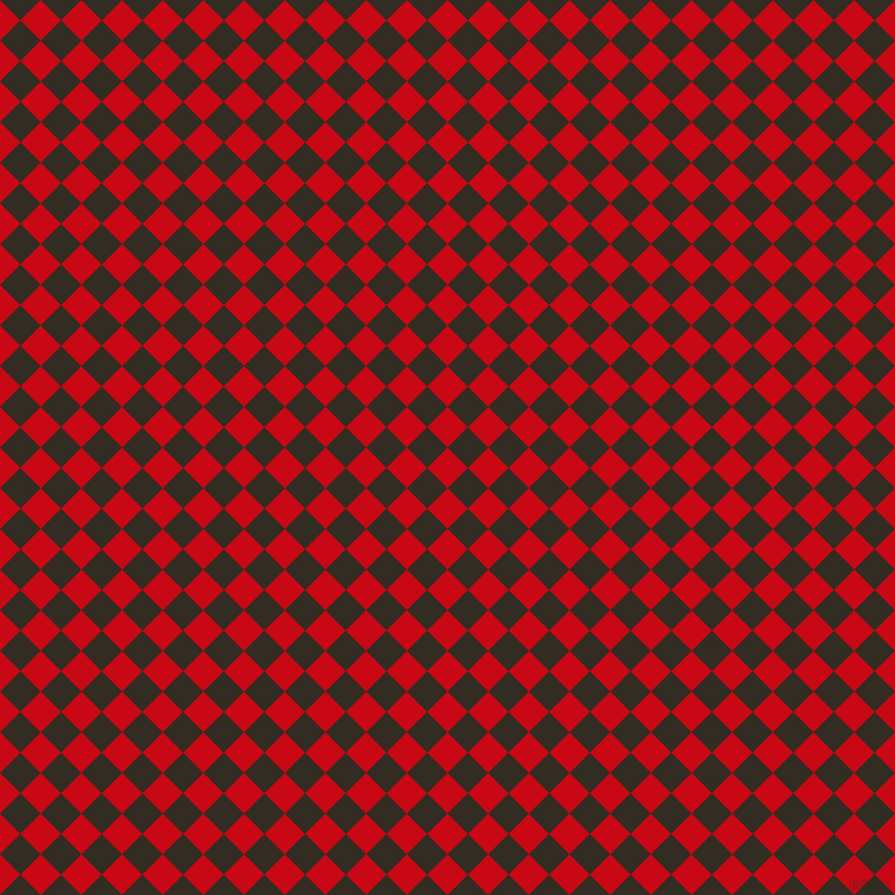 45/135 degree angle diagonal checkered chequered squares checker pattern checkers background, 26 pixel squares size, , Venetian Red and Black Magic checkers chequered checkered squares seamless tileable