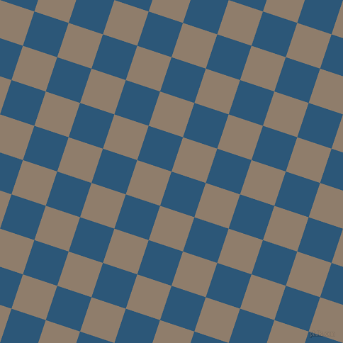 72/162 degree angle diagonal checkered chequered squares checker pattern checkers background, 51 pixel square size, , Venice Blue and Squirrel checkers chequered checkered squares seamless tileable