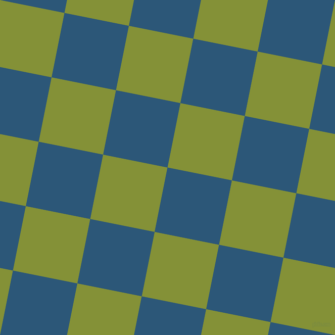 79/169 degree angle diagonal checkered chequered squares checker pattern checkers background, 130 pixel square size, , Venice Blue and Wasabi checkers chequered checkered squares seamless tileable