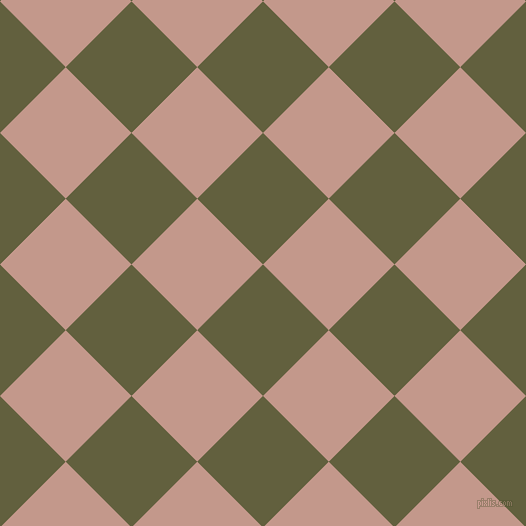 45/135 degree angle diagonal checkered chequered squares checker pattern checkers background, 93 pixel square size, , Verdigris and Quicksand checkers chequered checkered squares seamless tileable
