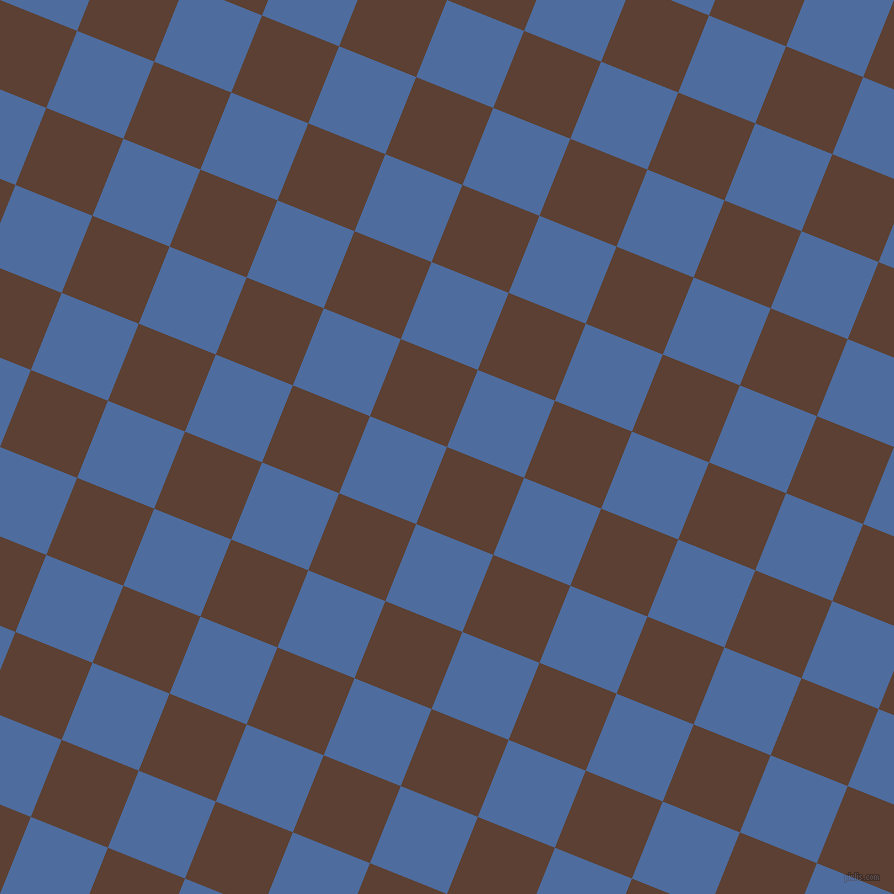 68/158 degree angle diagonal checkered chequered squares checker pattern checkers background, 83 pixel square size, Very Dark Brown and San Marino checkers chequered checkered squares seamless tileable