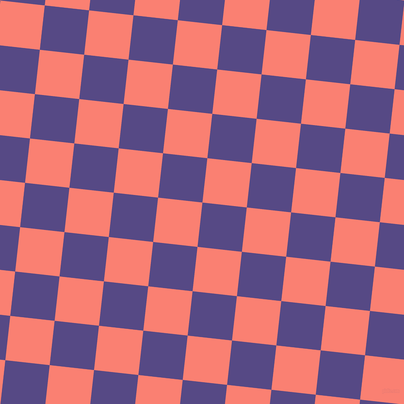 84/174 degree angle diagonal checkered chequered squares checker pattern checkers background, 92 pixel squares size, , Victoria and Salmon checkers chequered checkered squares seamless tileable