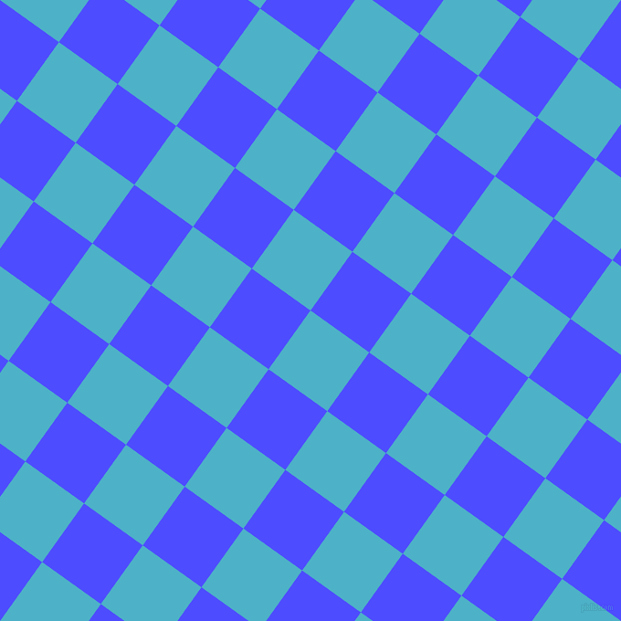 54/144 degree angle diagonal checkered chequered squares checker pattern checkers background, 79 pixel square size, , Viking and Neon Blue checkers chequered checkered squares seamless tileable