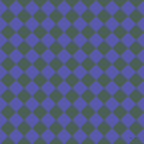 45/135 degree angle diagonal checkered chequered squares checker pattern checkers background, 48 pixel square size, , Viridian Green and Rich Blue checkers chequered checkered squares seamless tileable