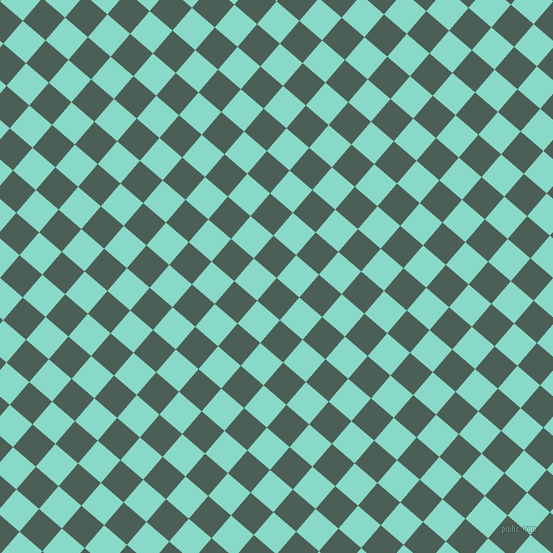 49/139 degree angle diagonal checkered chequered squares checker pattern checkers background, 30 pixel squares size, , Viridian Green and Riptide checkers chequered checkered squares seamless tileable