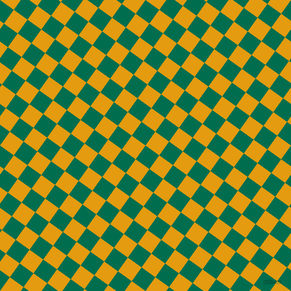 54/144 degree angle diagonal checkered chequered squares checker pattern checkers background, 34 pixel squares size, , Watercourse and Gamboge checkers chequered checkered squares seamless tileable