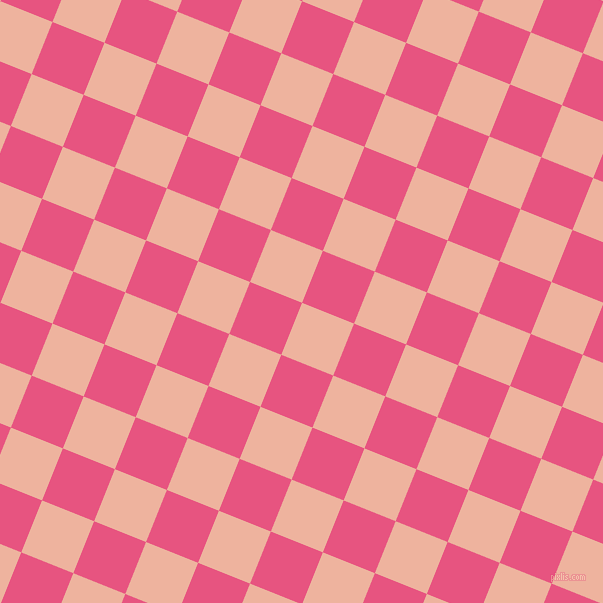 68/158 degree angle diagonal checkered chequered squares checker pattern checkers background, 56 pixel square size, , Wax Flower and Dark Pink checkers chequered checkered squares seamless tileable