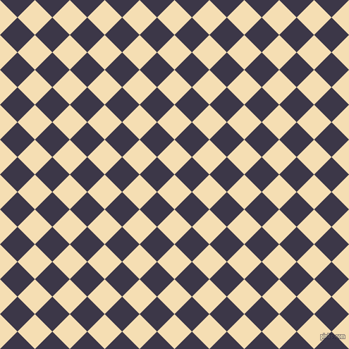 45/135 degree angle diagonal checkered chequered squares checker pattern checkers background, 35 pixel square size, , Wheat and Martinique checkers chequered checkered squares seamless tileable