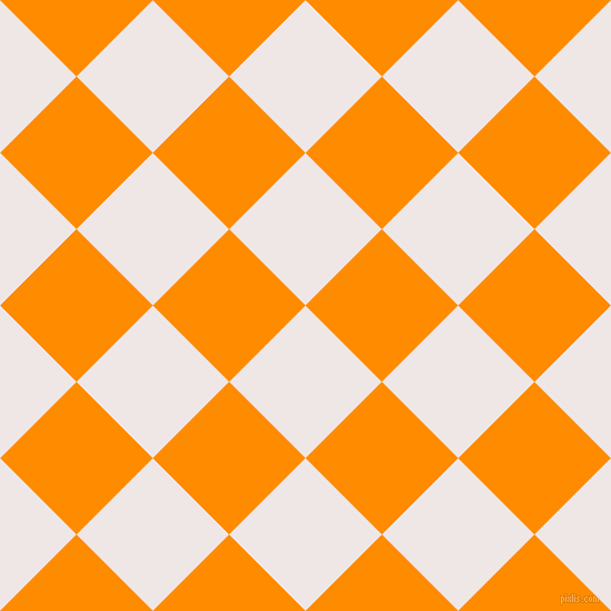 45/135 degree angle diagonal checkered chequered squares checker pattern checkers background, 97 pixel square size, , Whisper and Dark Orange checkers chequered checkered squares seamless tileable