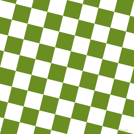 76/166 degree angle diagonal checkered chequered squares checker pattern checkers background, 52 pixel squares size, , White and Olive Drab checkers chequered checkered squares seamless tileable