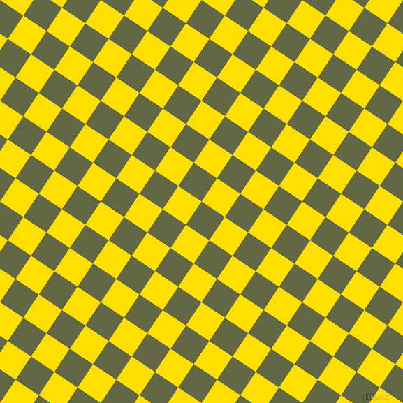 56/146 degree angle diagonal checkered chequered squares checker pattern checkers background, 40 pixel squares size, Woodland and Golden Yellow checkers chequered checkered squares seamless tileable