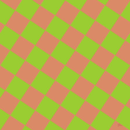 56/146 degree angle diagonal checkered chequered squares checker pattern checkers background, 62 pixel squares size, , Yellow Green and Copper checkers chequered checkered squares seamless tileable