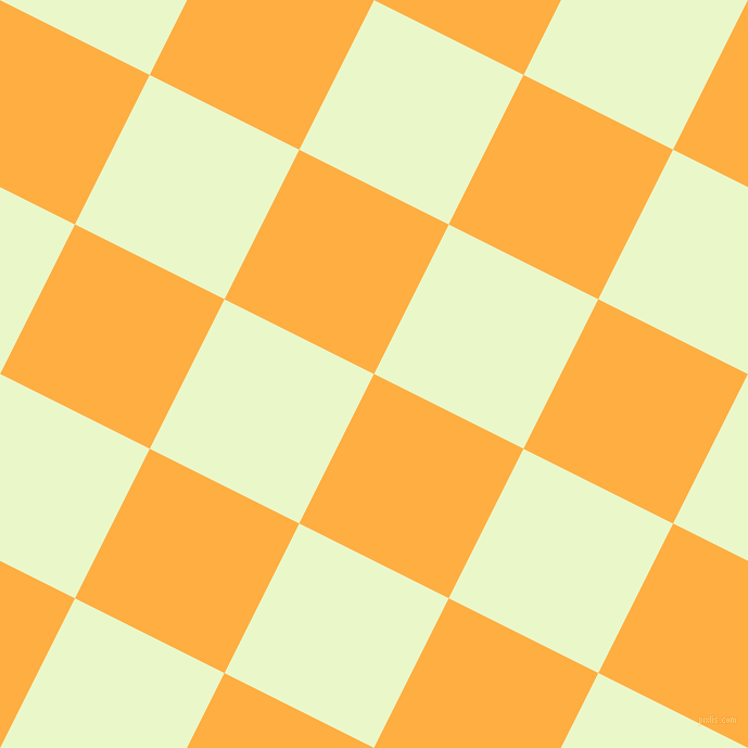 63/153 degree angle diagonal checkered chequered squares checker pattern checkers background, 154 pixel squares size, , Yellow Orange and Snow Flurry checkers chequered checkered squares seamless tileable