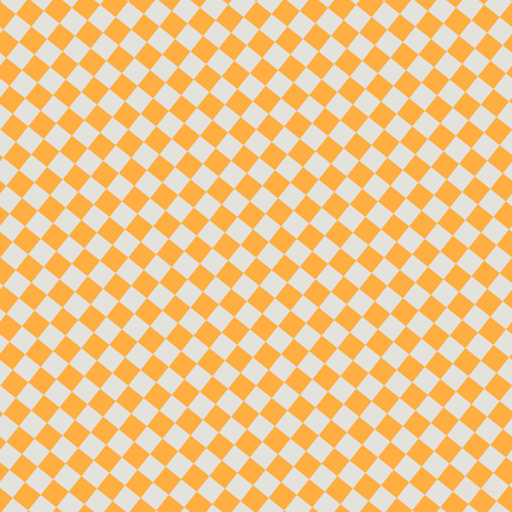 51/141 degree angle diagonal checkered chequered squares checker pattern checkers background, 18 pixel squares size, Yellow Orange and Wan White checkers chequered checkered squares seamless tileable