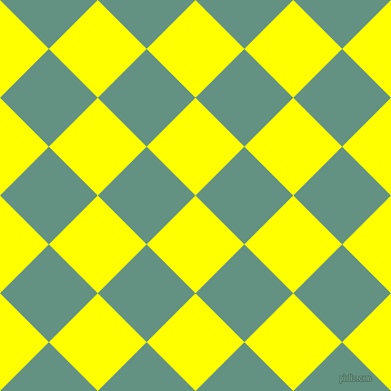 45/135 degree angle diagonal checkered chequered squares checker pattern checkers background, 76 pixel squares size, , Yellow and Patina checkers chequered checkered squares seamless tileable